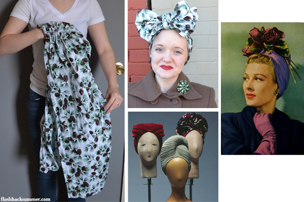Flashback Summer - Clap for That Wrap: Vintage Head Scarf Types - headwrap