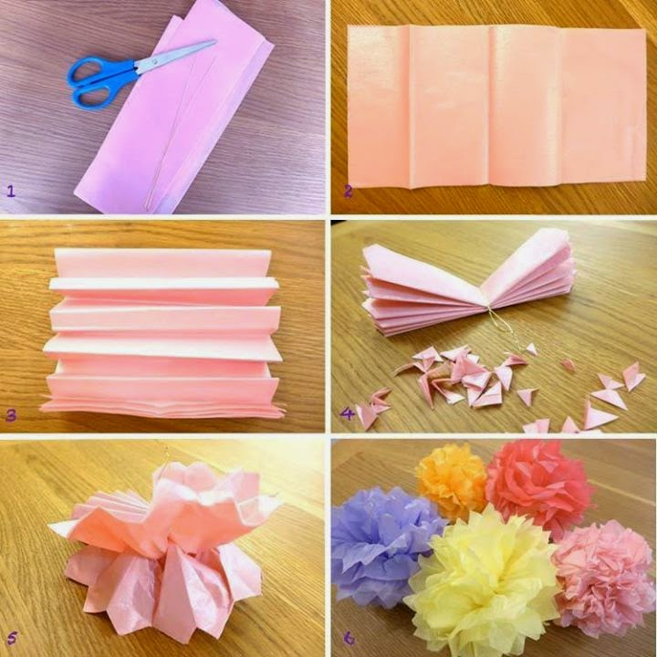 Four Easy paper Flowers Diy.