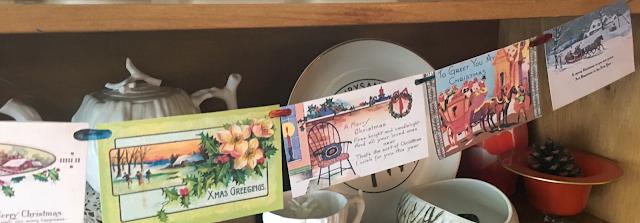 make a vintage postcard Christmas banner - The Cedar Chest Etsy Shop and blog