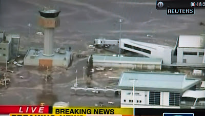 Japan Earthquake Sendai Airport Flooded