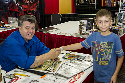 Bug and Neal Adams at Alamo City Comic Con
