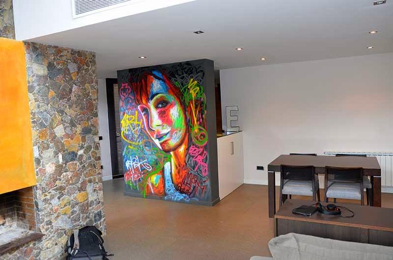 Berok graffiti mural profesional en barcelona pintar for Murales para decoracion de interiores