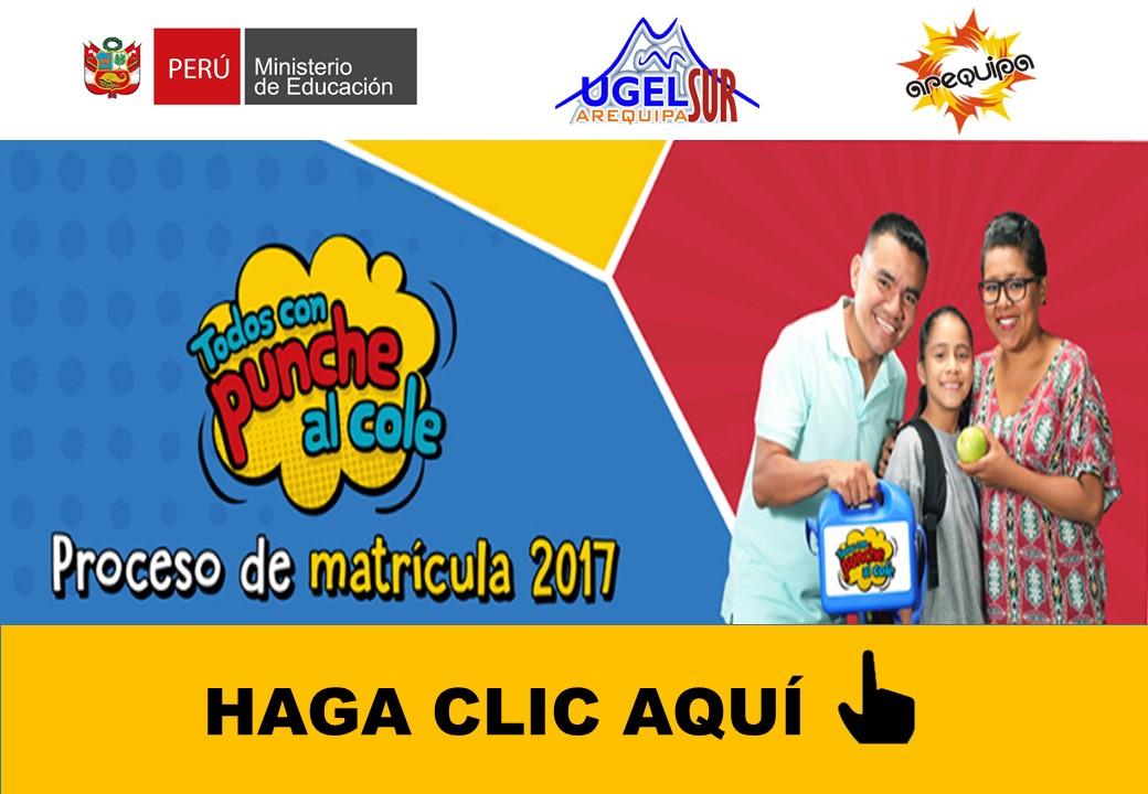 TODA INFORMACIÓN SOBRE LA MATRÍCULA 2017