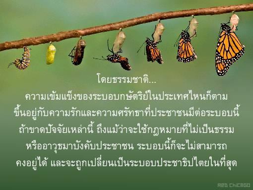 โดยธรรมชาติ... ความเข้มแข็งของระบอบกษัตริย์ในประเทศไหนก็ตาม