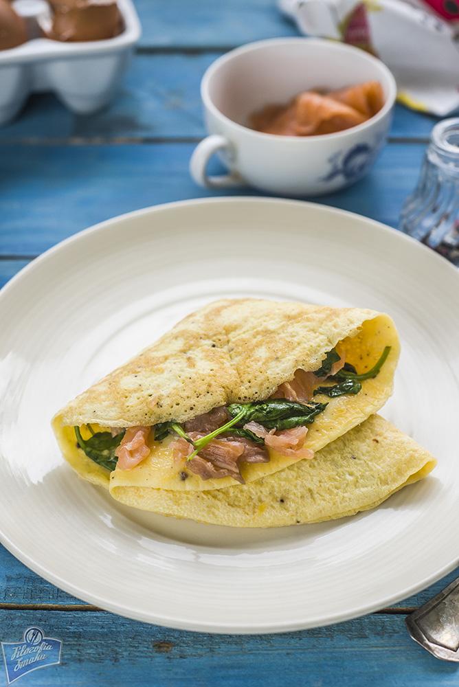 Omlet z łososiem przepisy