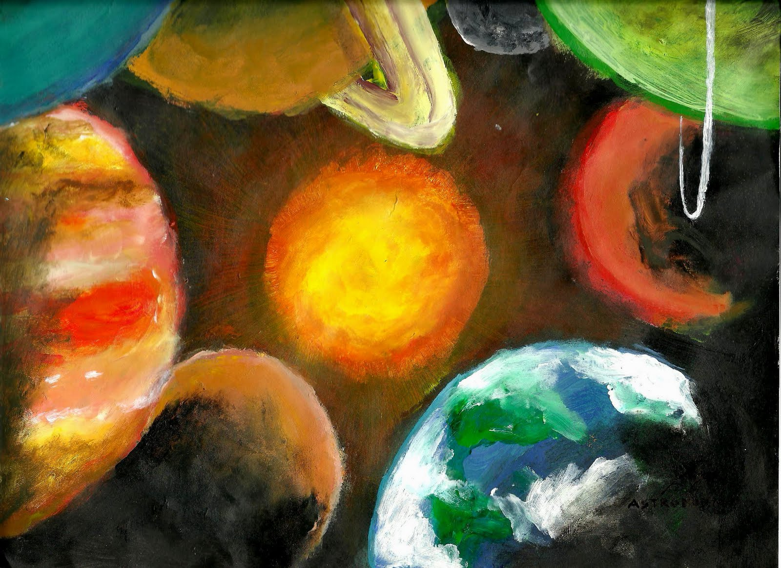 solar system paintings - photo #34