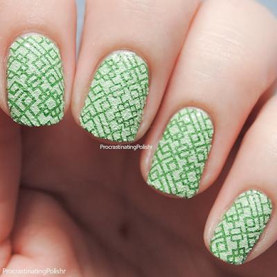 Textured stamping nail art