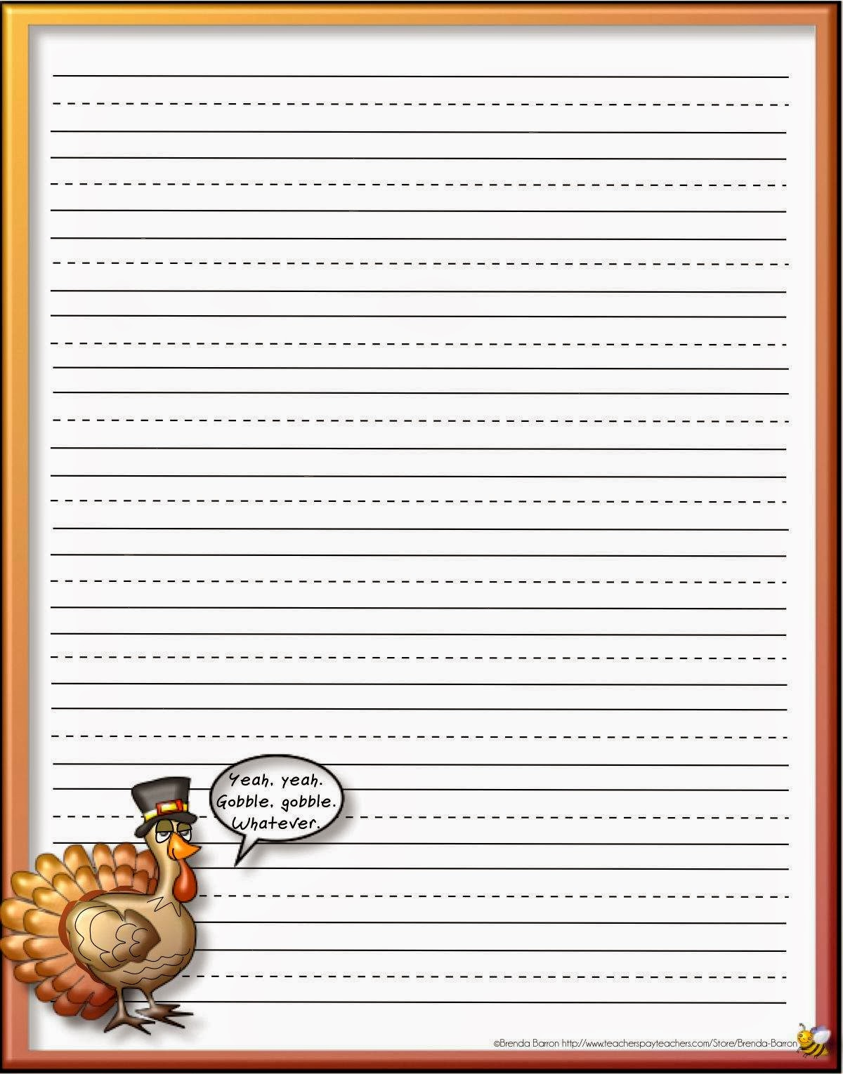 The Classroom Flyer Teaching Blog: Free Thanksgiving Stationery ...