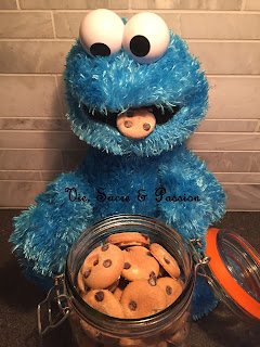 Cookie Monster chocolate chips cookies