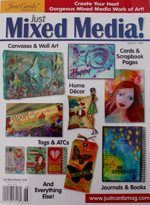I was published at Just Mixed Media 2016