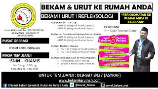 Bekam & Urut Ke Rumah Anda Putrajaya & Kuantan