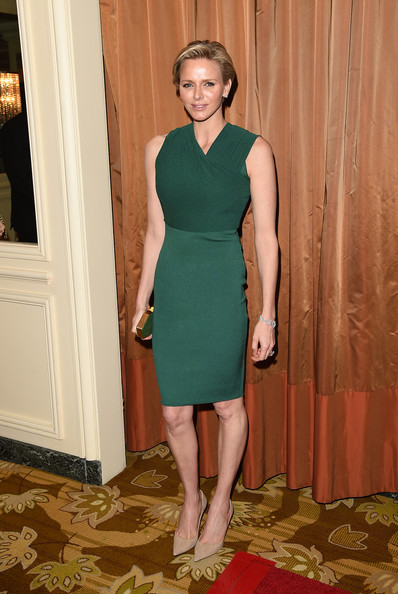 Princess Charlene attended  the Colleagues' 26th Annual Spring Luncheon at the Beverly Wilshire Four Seasons Hotel