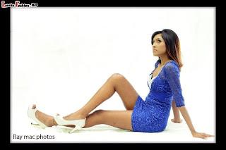 Sachi Wickramasinghe blue open legs