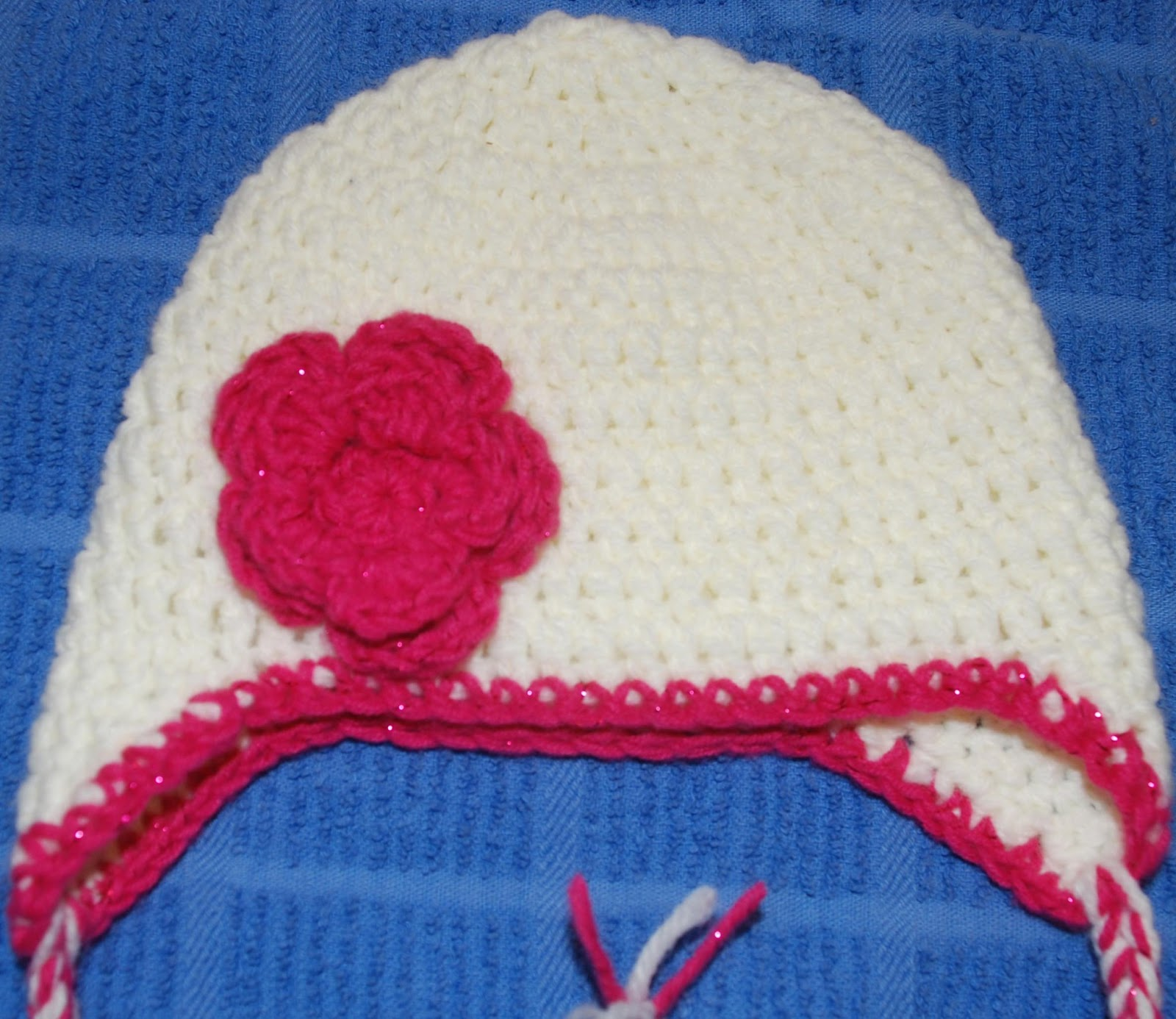 Free Crochet Patterns Baby Hats Easy : Amys Crochet Creative Creations: Crochet Baby Earflap hat