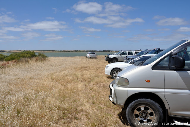 Car park in Coorong