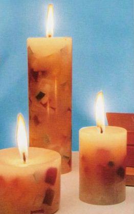 Como hacer velas tipo mosaico lodijoella for Como hacer velas decorativas