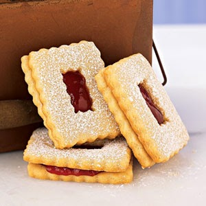 Raspberry Linzer Windowpane Cookies, Cooking Light