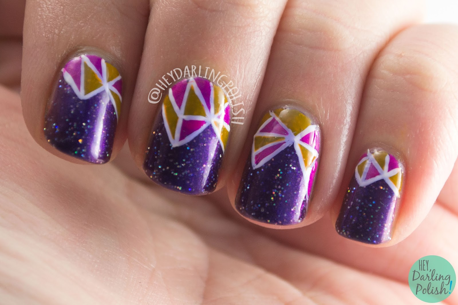 Hey, Darling Polish!: 52 Week Challenge: Stained Glass Fractals