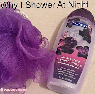 why I shower at night