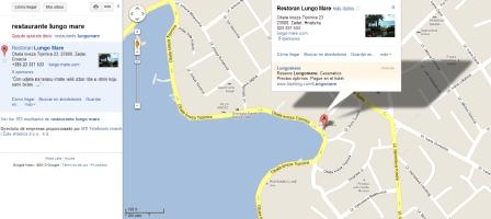 Mapa donde se ubica el Restaurante Lungo Mare en Zadar