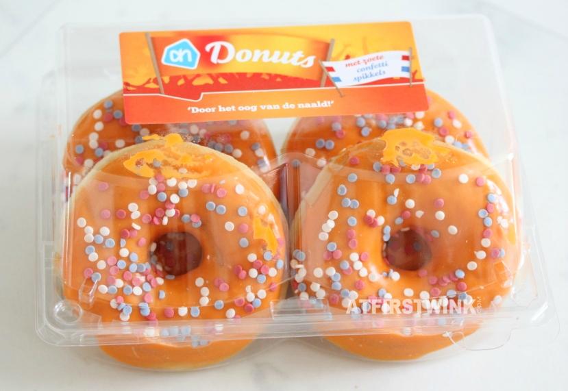 Albert Heijn oranje donuts | orange donuts with sprinkles