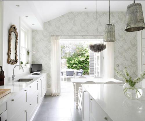 I heart shabby chic white kitchen heaven 2012 i heart - Shabby chic modern kitchen ...