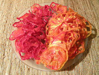 Plate of dried tomato slices