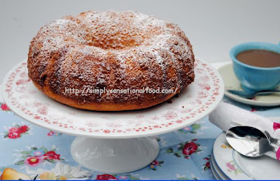 Honey Lemon Sponge Cake