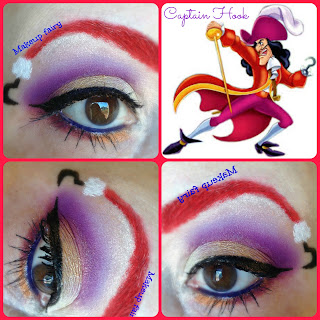 eye makeup disney captain hook