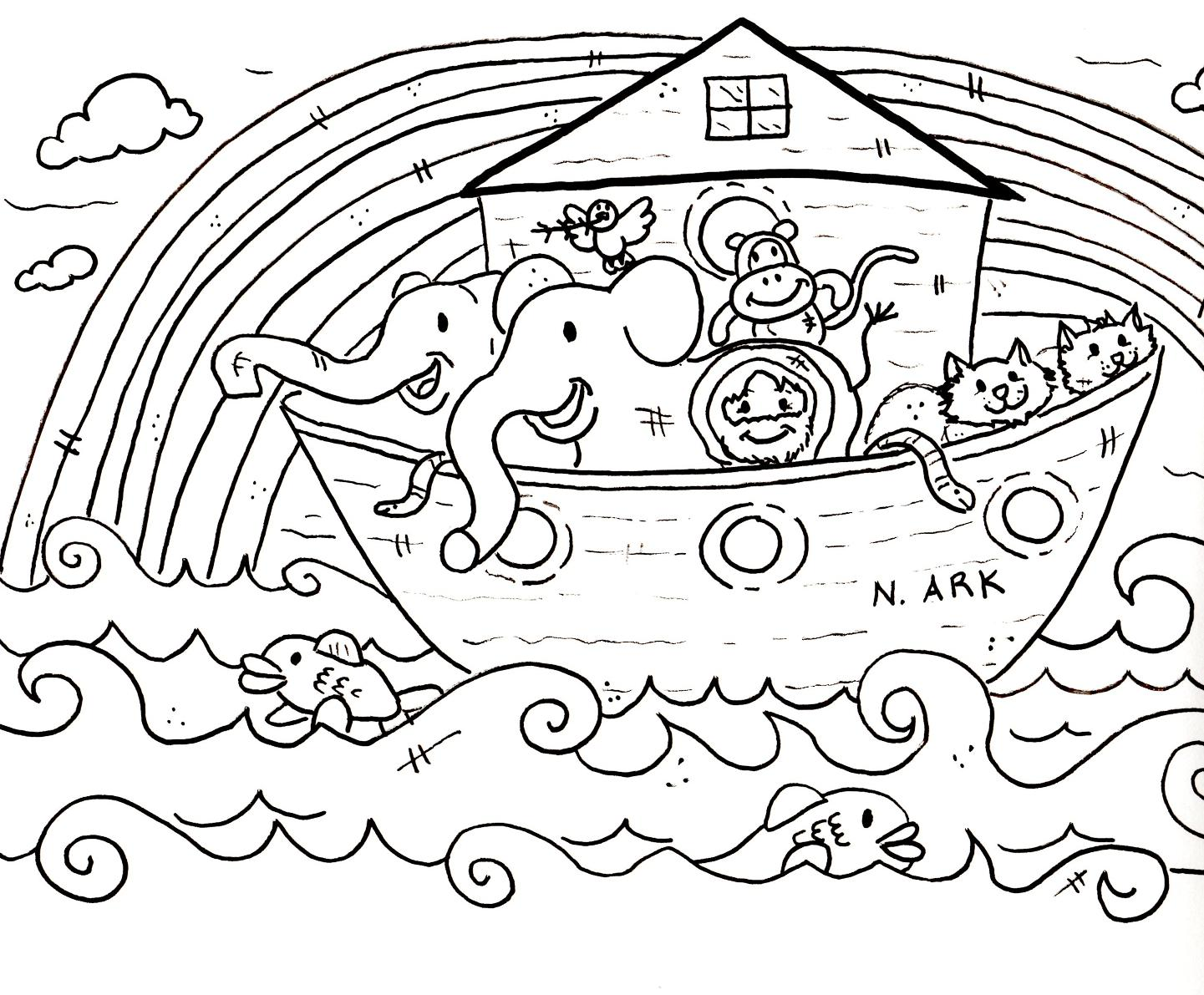 Noah's Ark Rainbow Coloring Sheet http://www.scraphappypapercrafter.com/2012/03/free-digis-great-for-sunday-school.html