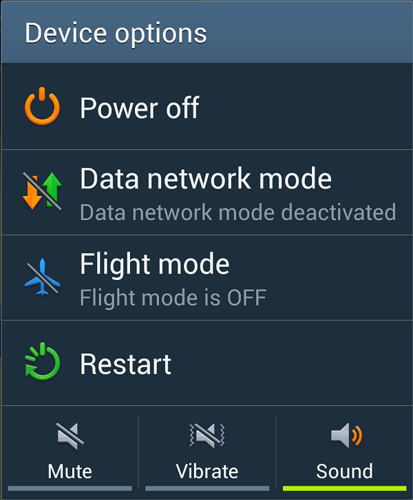Helps: Fixed the problem with POWER BUTTON MENU of Samsung Galaxy S2