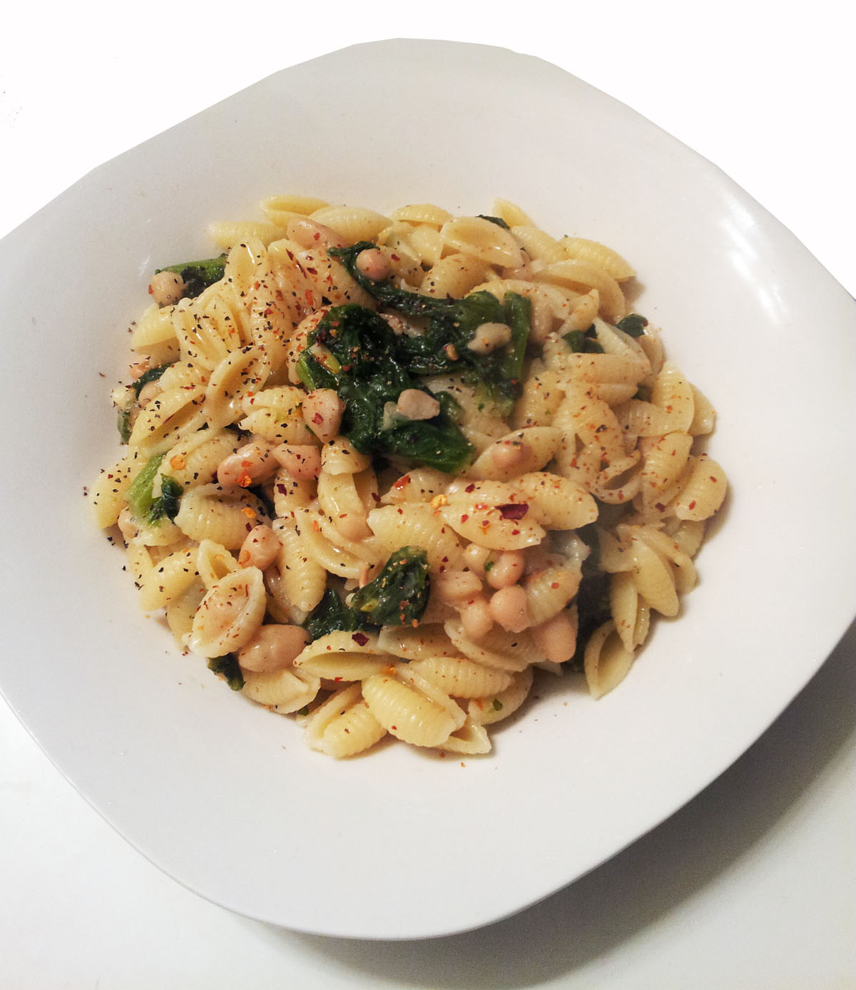 ... Hatred of Meat: Cavatelli with Mustard Greens & Creamy White Beans