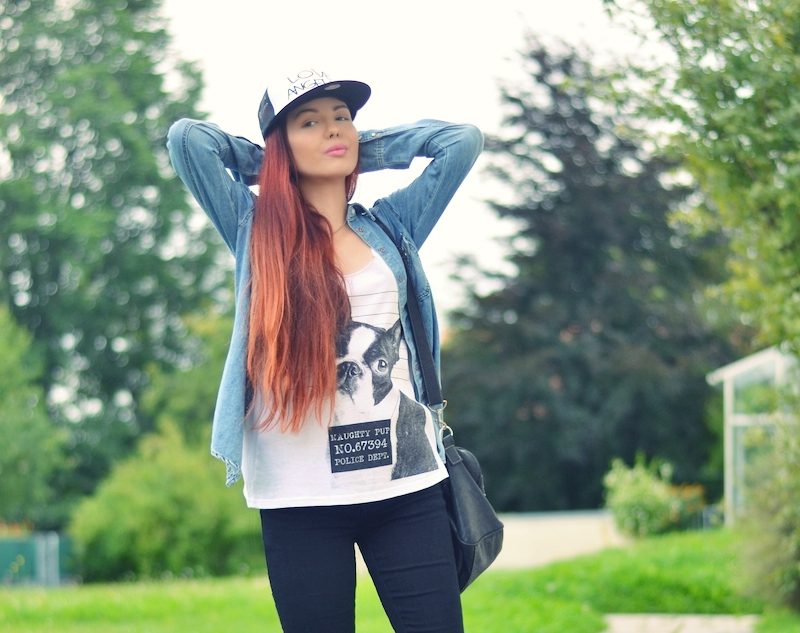 Outfit_Jeanshemd_Cap_casual_Primark