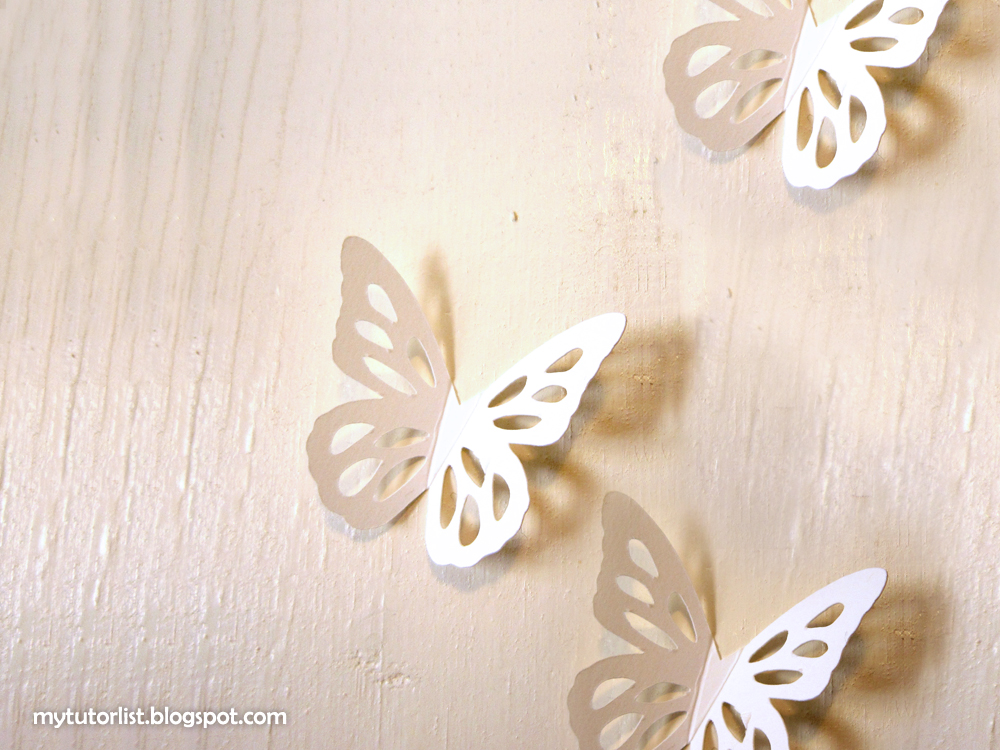 Butterfly Wall Art Decor Tutorial Behind