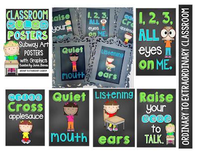 https://www.teacherspayteachers.com/Product/Classroom-Rules-Subway-Art-2042803