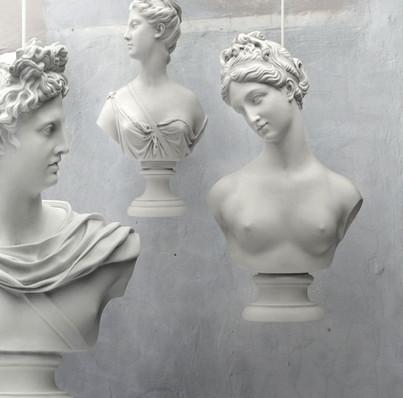 Goddess Statue Pendantt Lights at House Junkie