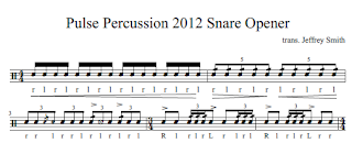 Percussion 2012 snare solo