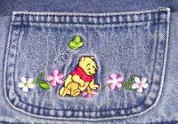 denim jeans quilt winnie the pooh
