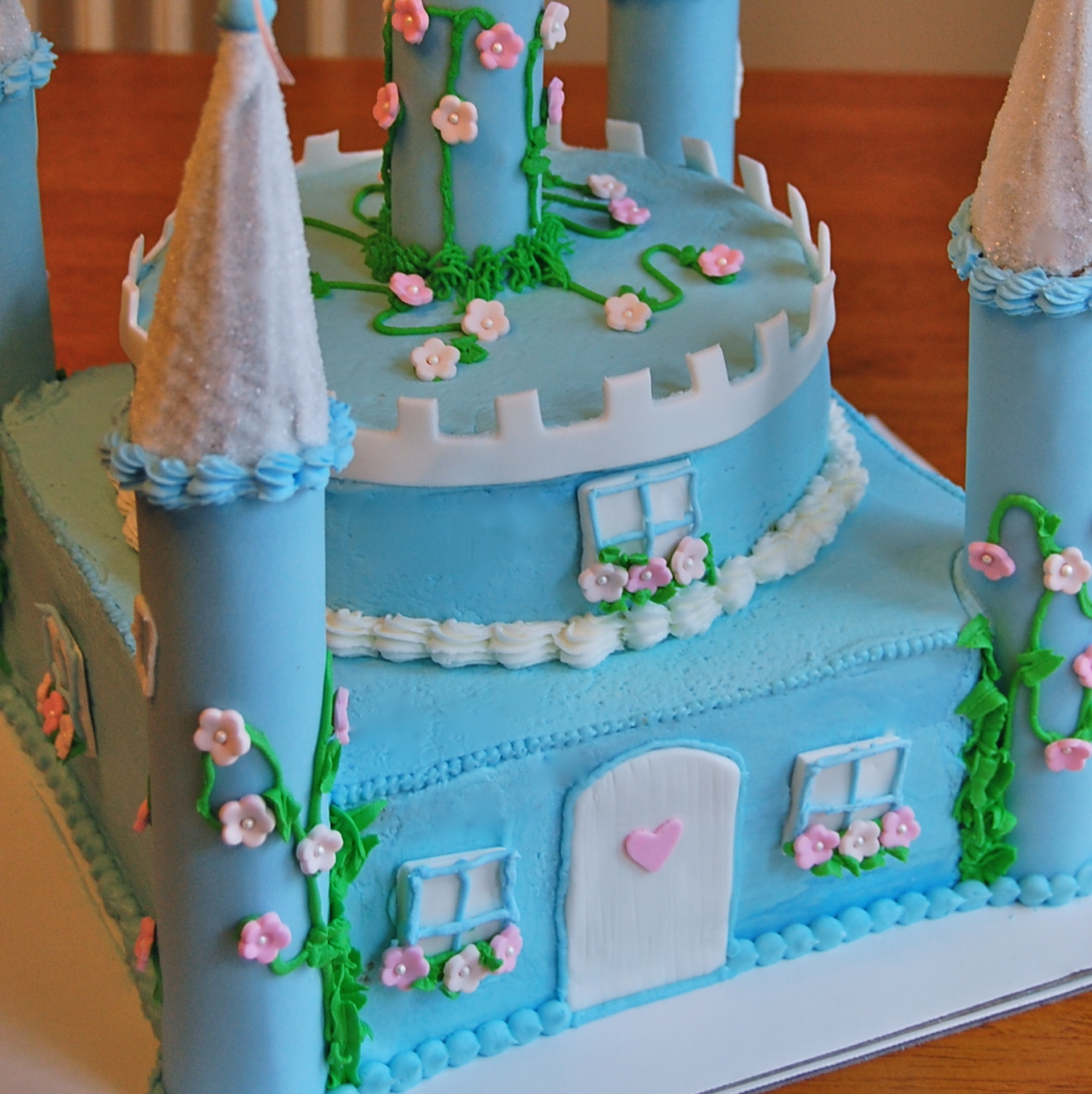 chef mommy: princess castle cake