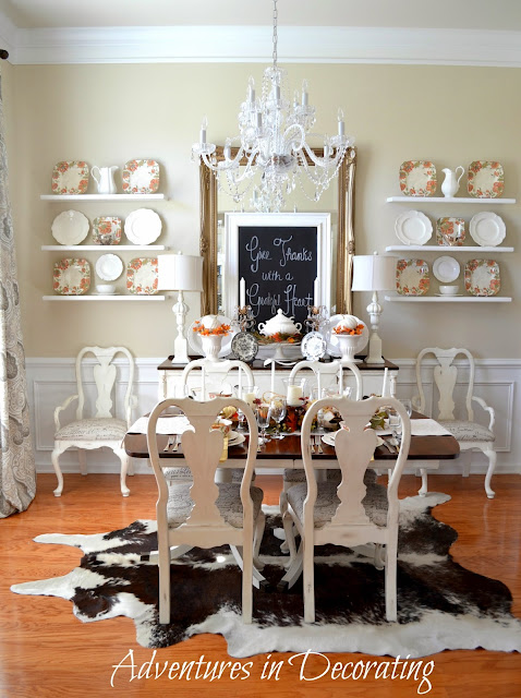 Maybe Its Time I Ring The Dinner Bell And Have Family Friends Actually Break Bread At This Table Id Be Happy To Pluck Faux Pumpkins From