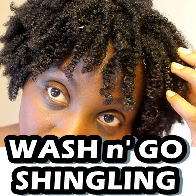 Wash and Go on 4C Natural Hair Shingling