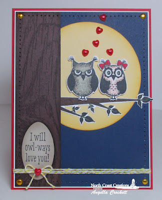 North Coast Creations Stamp set: Who Loves You?, North Coast Creations Custom Dies: Owl Family, Our Daily Bread Designs Stamp set: Wood Background, Our Daily Bread Designs Custom Dies:  Oval Dies, Clouds and Raindrops