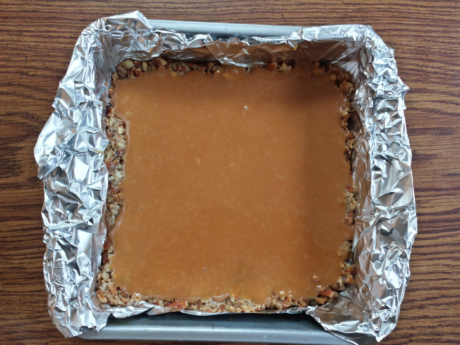 caramel over crust