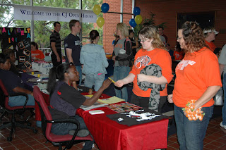 Student organizations are available at Parent's Weekend and the Criminal Justice Open House.