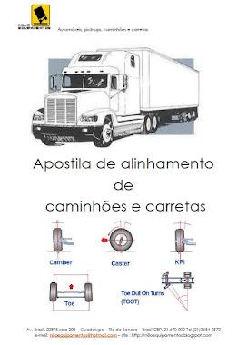Capa da apostila de alinhamento de caminhão