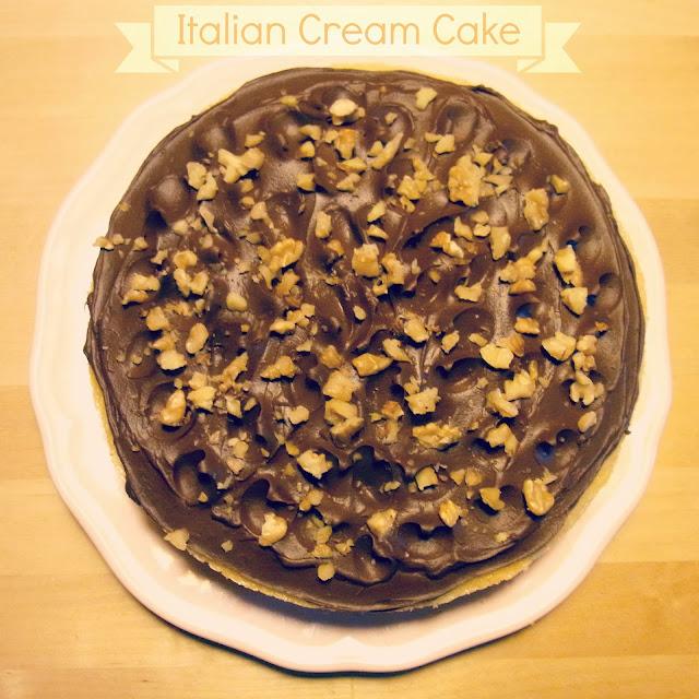 italian cream cake: torta di cocco e luna di miele
