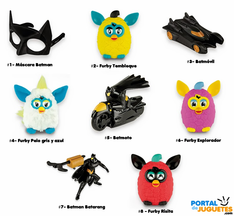 juguetes furby batman happy meal mcdonalds nombres
