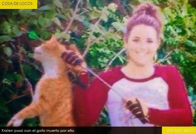 Atraveso' un gato con una flecha y subio' la foto a las redes