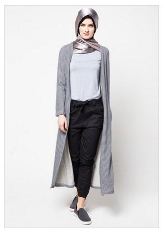 Trend Fashion Baju Muslim Cardigan Panjang Terbaru