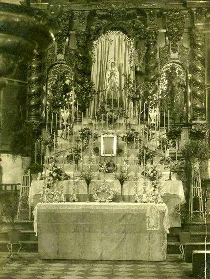 Antiguo retablo S. Bartolomé. 1924